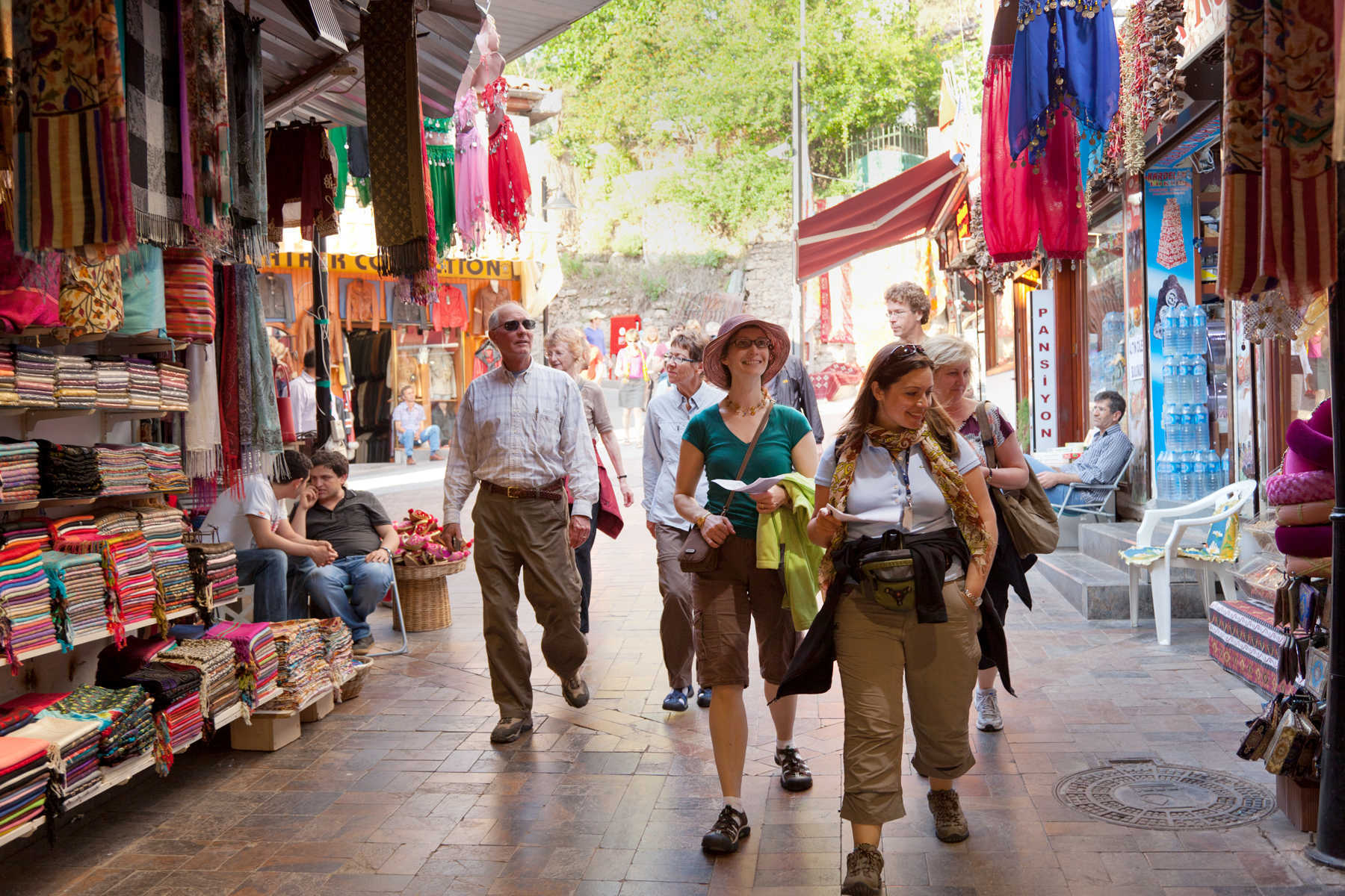 Tourists in Market, Antalya, Turkey