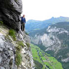 Via Ferrata Walkway, Gimmelwald, Berner Oberland, Switzerland