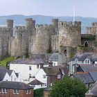 View of Conwy Castle, Conwy, North Wales