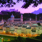 Night View of Salzburg, Austria
