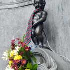Manneken Pis Statue, Brussels, Belgium
