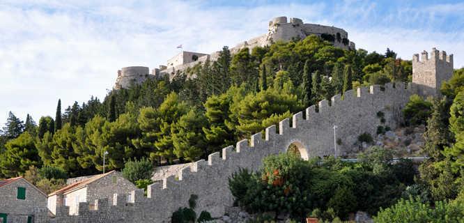 Town wall, Hvar, Croatia