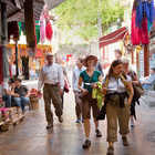 Tourists in Market, Antalya, Turkey