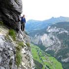 Via Ferrata Walkway, Gimmelwald, Berner Oberland, Switzerland