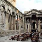 Peristyle Outdoor Cafe, Split, Dalmatian Coast, Croatia