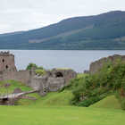 View of Urquhart Castle, Loch Ness, Highlands, Scotland