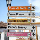 Signs in Ronda, Andalucia, Spain