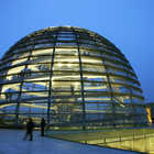 Reichstag Dome Exterior at Night, Berlin, Germany