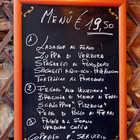 Chalkboard Restaurant Menu, Venice, Italy