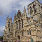 The York Minster is the largest Gothic church north of the Alps