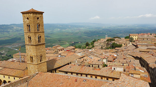 Rooftops of Volterra in Tuscany, Italy
