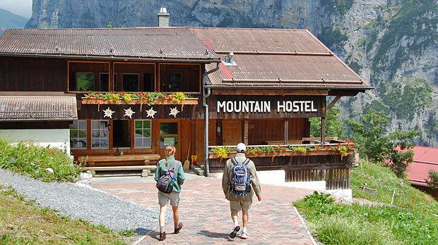 Mountain Hostel in Gimmelwald, Switzerland