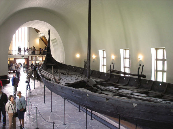 Viking Ship in Museum, Oslo, Norway