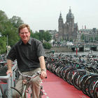 Rick with Bikes in Amsterdam, Netherlands