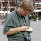 Rick Researching, Frankfurt, Germany