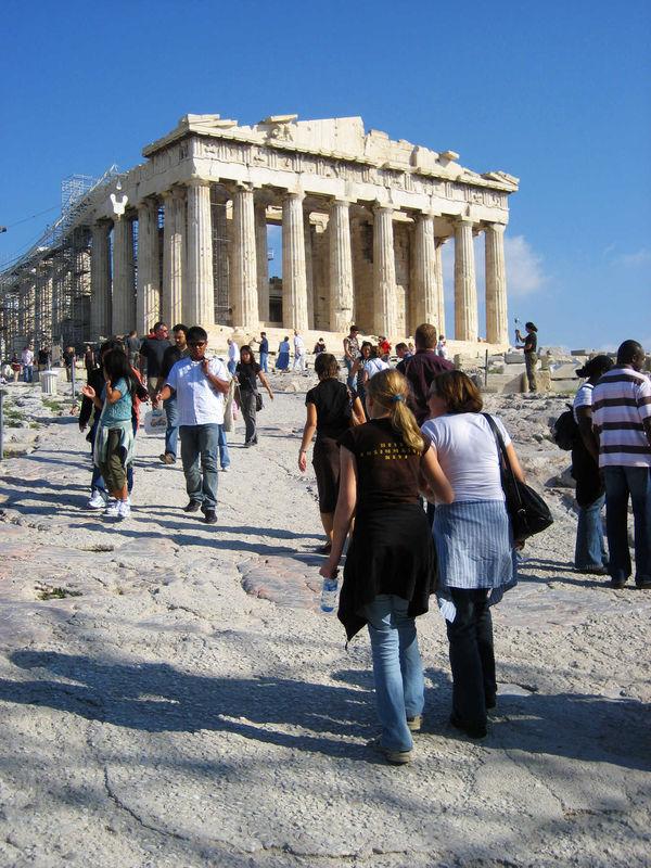 Parthenon Crowd, Acropolis, Athens, Greece