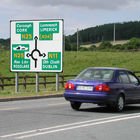 Roundabout Traffic Sign, Ireland