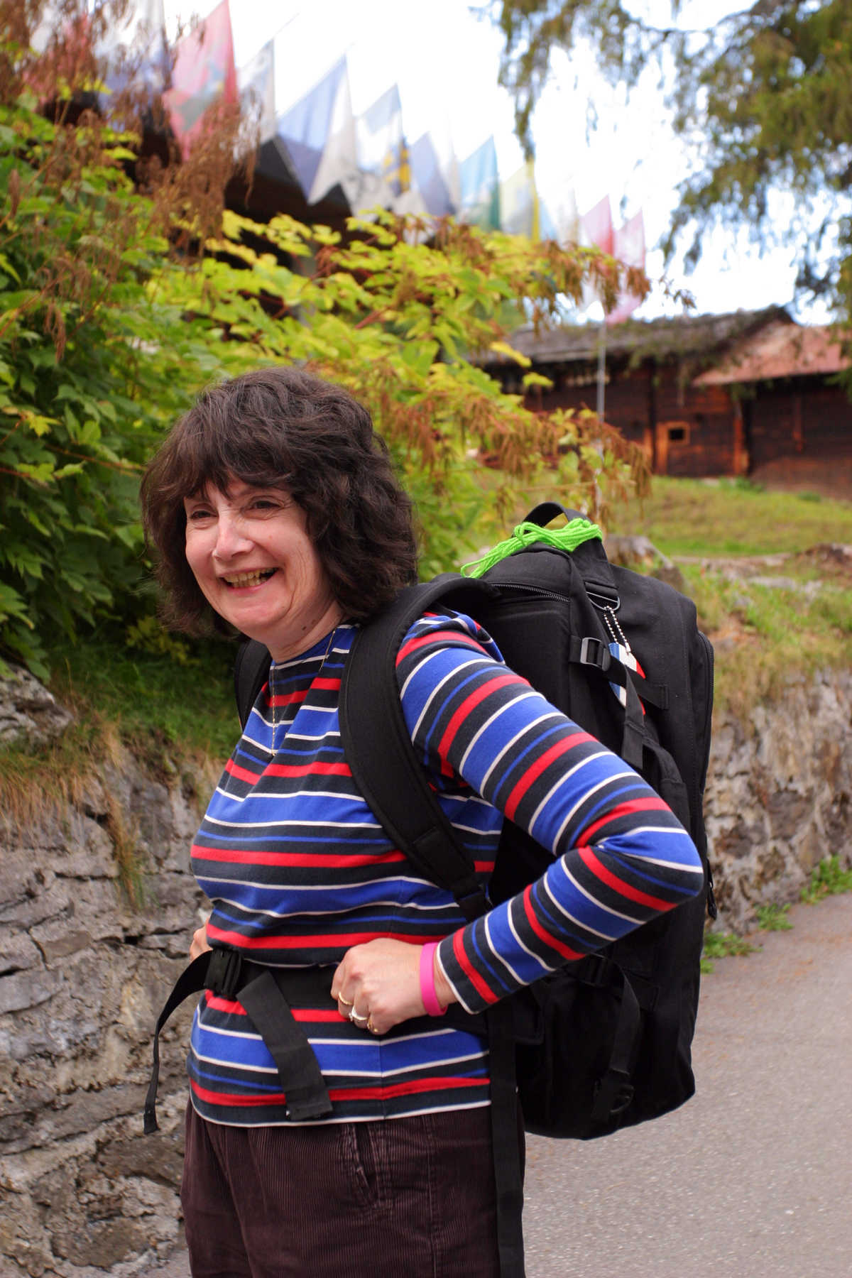 Woman Wearing Carry-On Pack