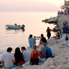 Waterfront Bar Sunset, Rovinj, Croatia