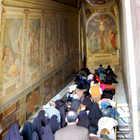 Pilgrims at Scala Santa, Rome, Italy