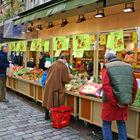 Outdoor Market Shoppers, Rue Cler, Paris, France
