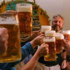 Beer Mugs Toasting, Oktoberfest, Munich, Germany