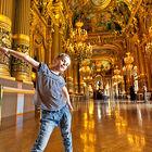 Girl in the Opera Garnier in Paris, France